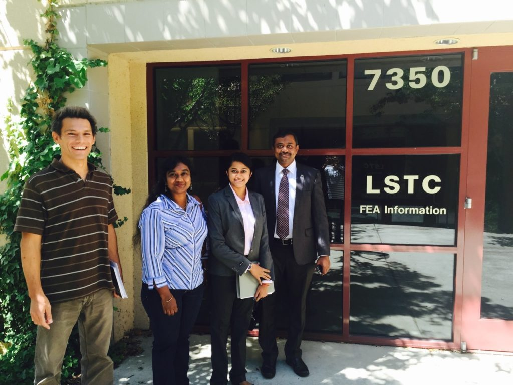 Mr. Albert Einstein and his team with Dr. Facundo Del Pin (extreme left) at LSTC office, Livermore USA